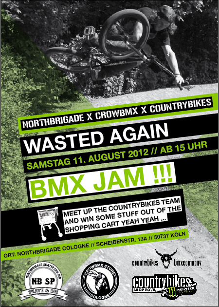 NorthbrigadeXCrowbmxXCountrybikes  – Wasted again BMX JAM 11.8.12