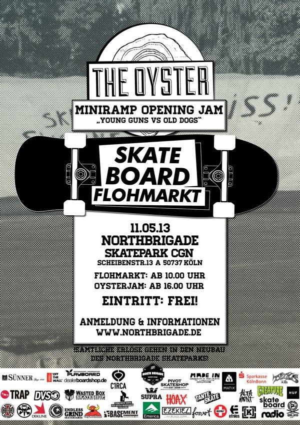 Skateboard Flohmarkt x Oyster Jam am 11. Mai 2013